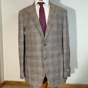 New Canali Kei Mens Blazer Sport Coat Wool plaid